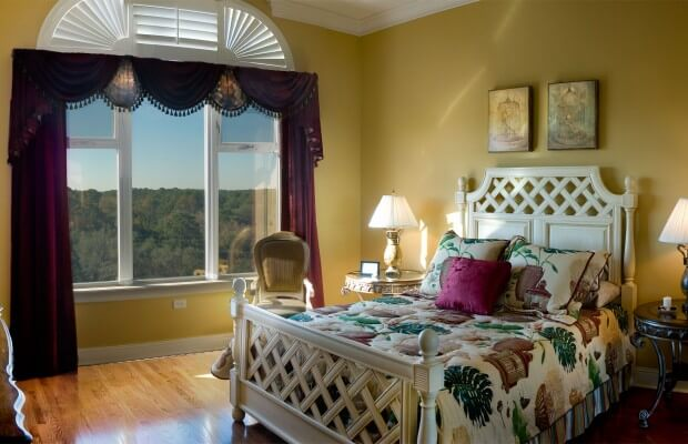 Sypialnia w nietypowych kolorach