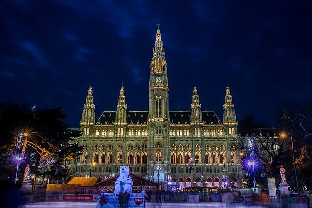 jarmark pod ratuszem w Wiedniu