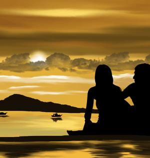 dziewczyna i chlopak po rozstaniu na plaży