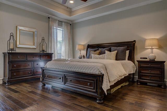 gustownie urządzona sypialnia