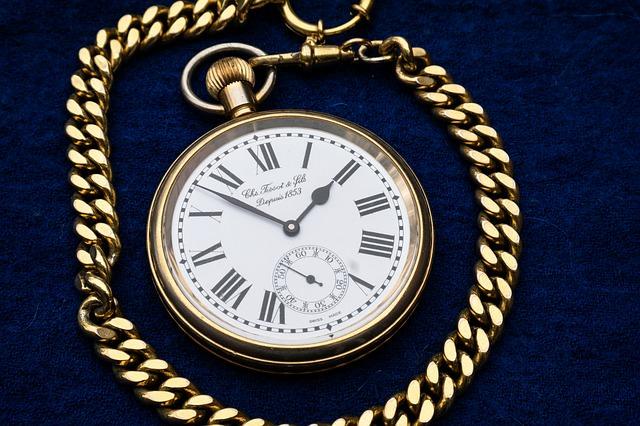 zegarek na łańcuszku