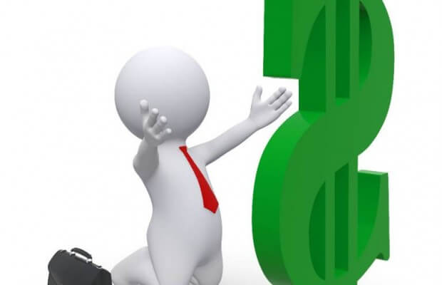 Rysunek dolar i człowiek