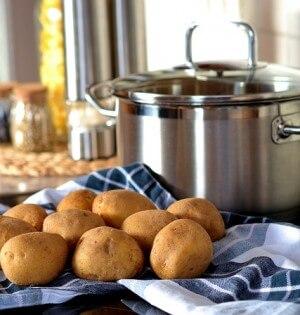 Ziemniaki gotowane na parze