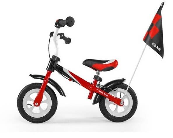 Czerwony rower biegowy dla dziecka