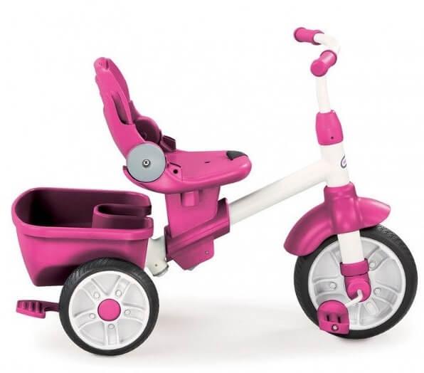 Różowy, trójkołowy rower