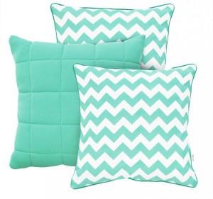 Poduszki w kolorze mięty