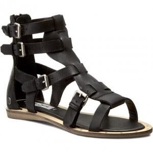 sandały czarne rzymianki