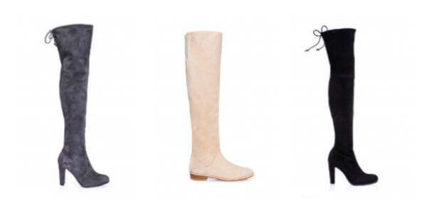 Trzy buty kozaki projektanta Stuarta Weitzmana