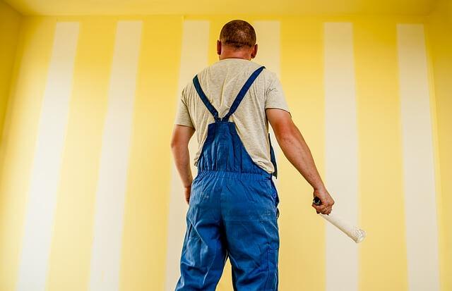 pomalowana ściania