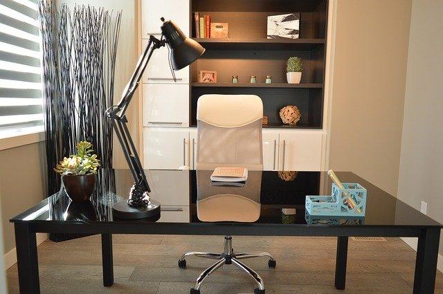 Eleganckie biuro w domu